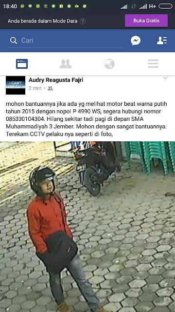 Info Kehilangan Motor Beat