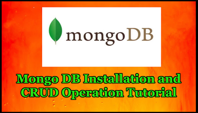 Mongo DB Installation and CRUD Operation