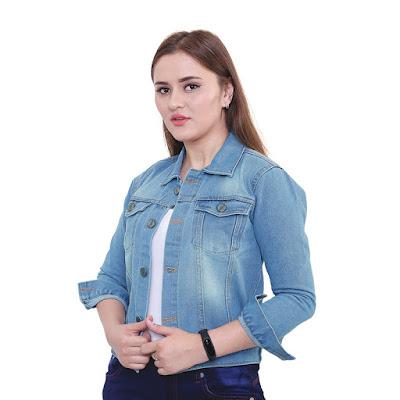 Jaket Jeans Wanita Catenzo NU 076