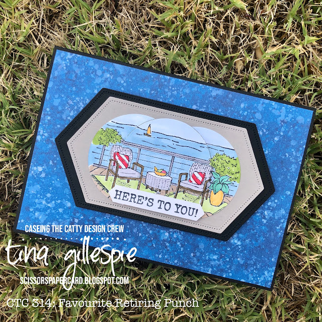scissorspapercard, Stampin' Up!, CASEing The Catty, Seaside View, Seaside Notions, Whale Of A Time DSP, Stitched Nested Labels Dies, Stampin' Blends