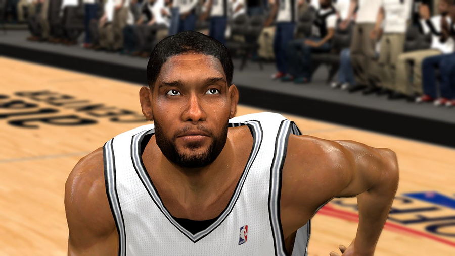 NBA 2K14 Tim Duncan Mini Afro Hair Cyberface