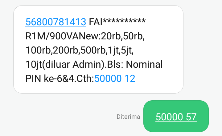 Cara Membeli Pulsa Token Listrik Pake BNI SMS Banking