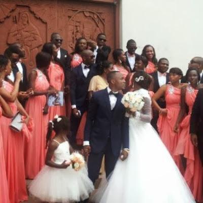 comedian ushbebe white wedding photos