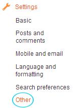 Blog setting