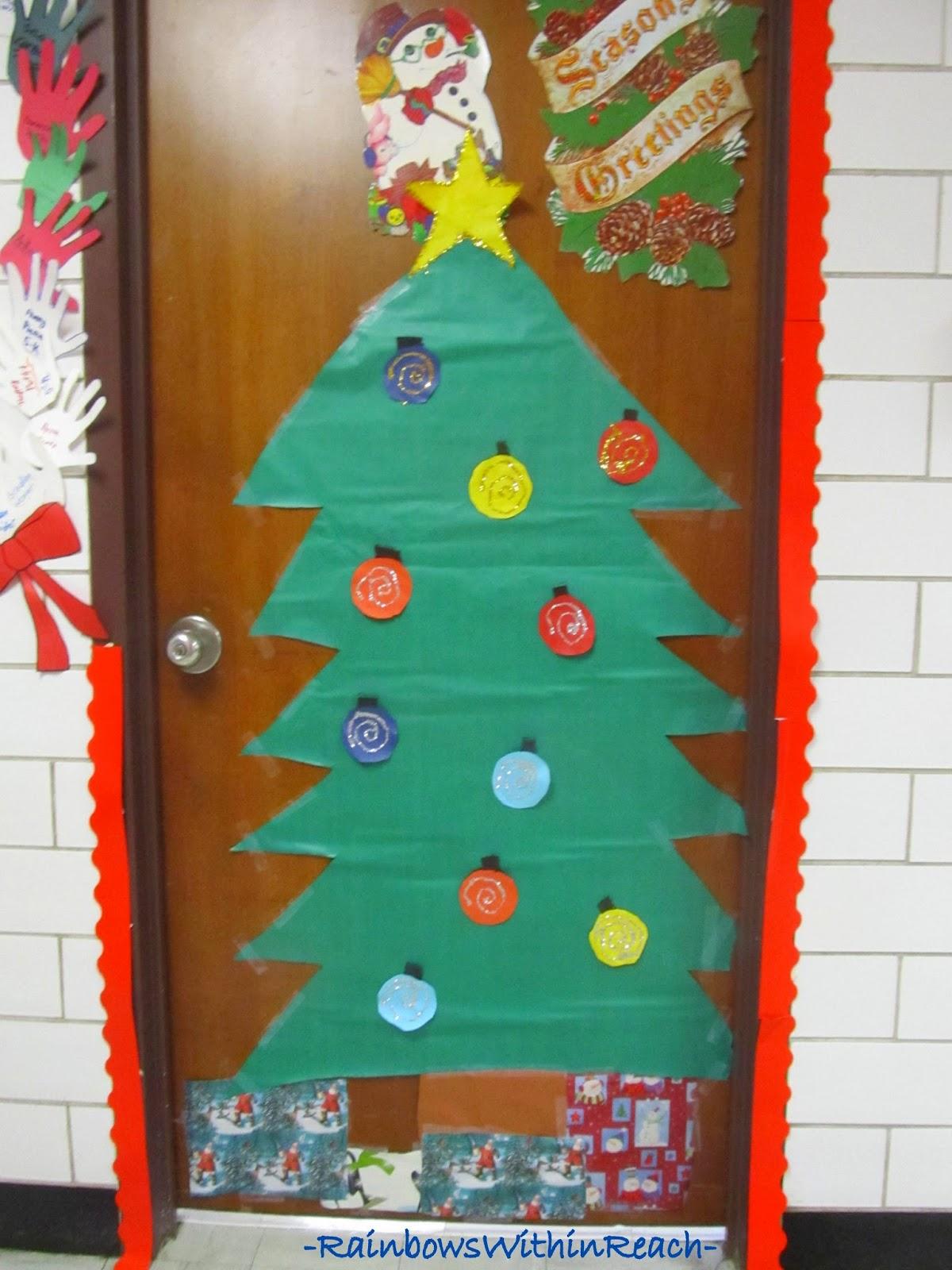 Christmas Tree Classroom Door Decorations