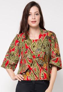 Model baju batik untuk motif awan untuk kerja