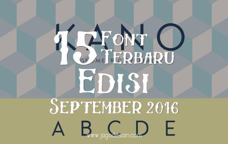 Download 15 Font Terbaru Gratis Edisi September 2016