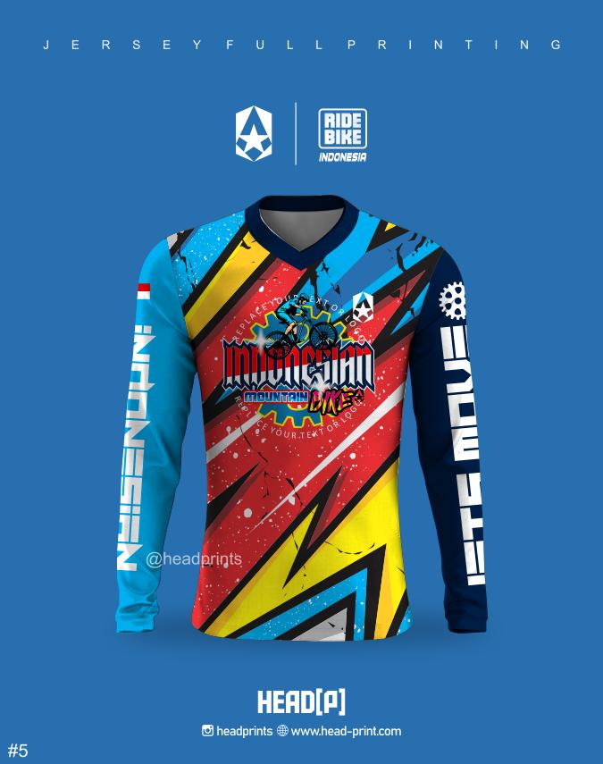 Rider Cycling Desain Jersey Sepeda MTB Full Printing - Vendor Jersey Jogja