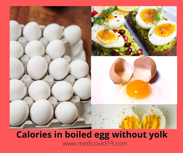 calories in boiled egg without yolk