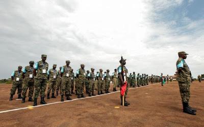 Ugandan Troops in Somali. PHOTO | XINHUA