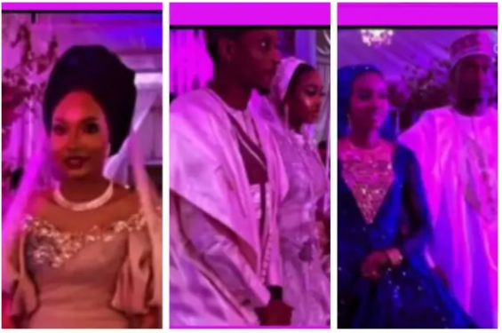 Three brothers marry their brides on same day and same venue in Kano state (Video)