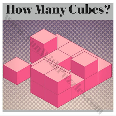 How many cubes in picture puzzle?