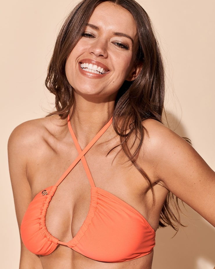 Michea Crawford Hot Photoshoot in Orange Bikini