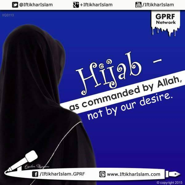 Hijaab - as commanded by Allah, not by our desires | Ifty Quotes | Iftikhar Islam