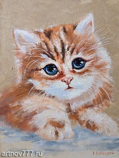 Котёнок-портрет-картина