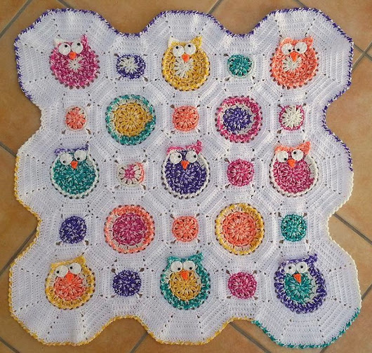 Granny-Spiration Challenge 07/2017: Babydecke 'Owl Obsession'