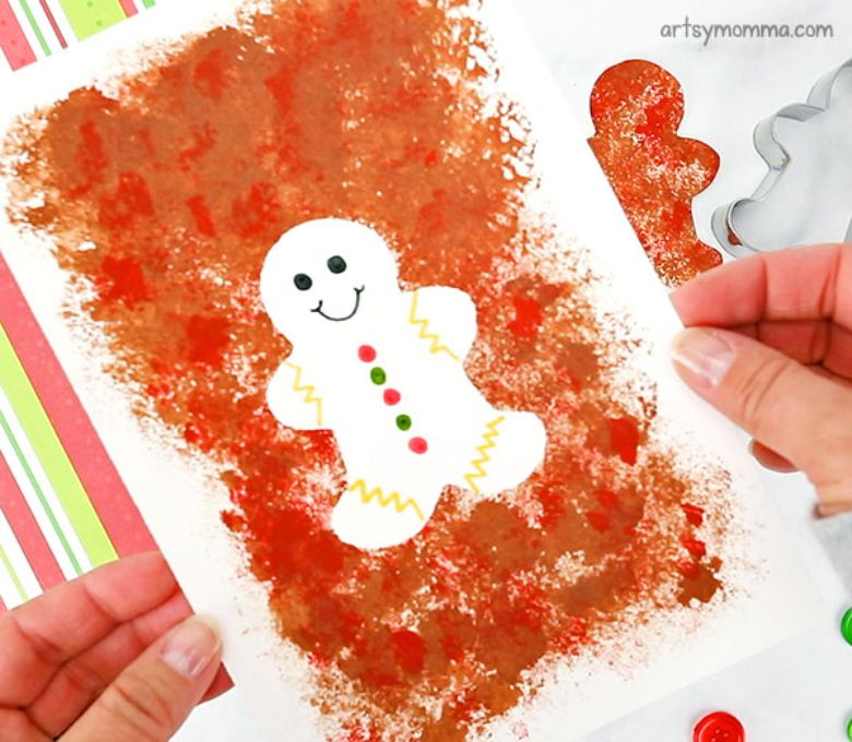 Gingerbread man craft for toddlers and preschoolers