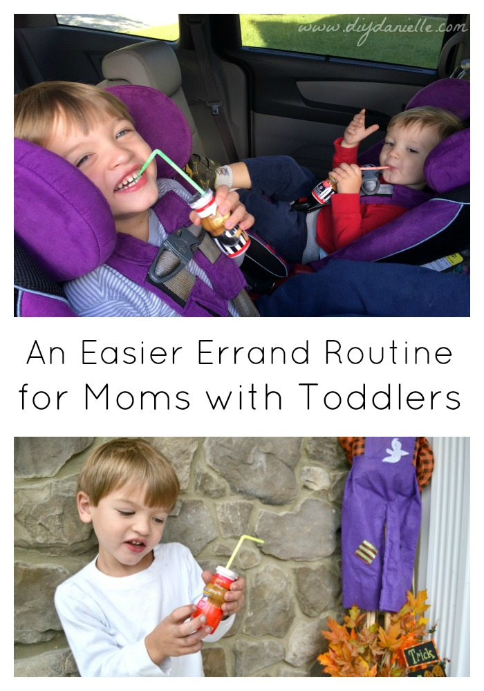 Tips for an easier errand routine for moms with toddlers. #AD #FuelTheirAdventures