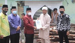 Plt Wali Kota Tanjungbalai Hadiri Pembangunan Masjid Kelurahan Keramat Kubah