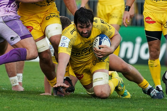 Romain Sazy of La Rochelle during the European Rugby Champions Cup