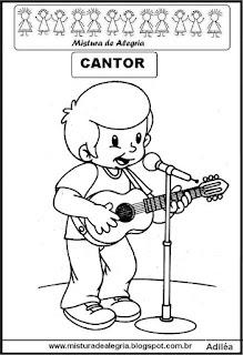 Desenho de cantor para colorir