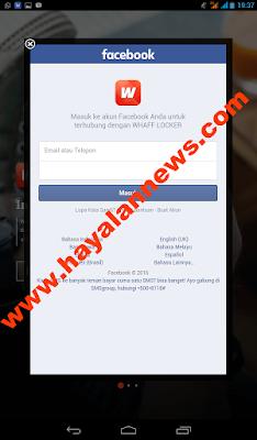 Buka layar kunci android bisa dapat pulsa gratis dengan aplikasi whaff locker