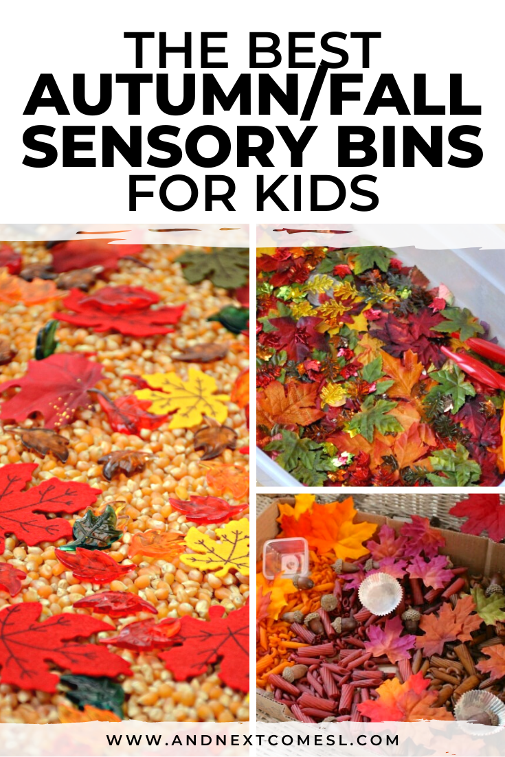 Looking for autumn sensory bin ideas? Try these fall sensory bins for toddlers and preschoolers