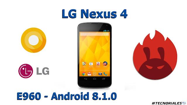 lg nexus 4 android 8.1.0 antutu