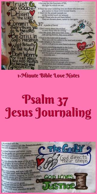 Psalm 37 - Creative Journaling - Jesus Journaling