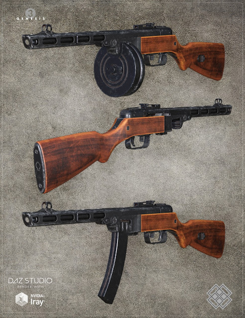 Russian Weapon for Genesis 3 Male