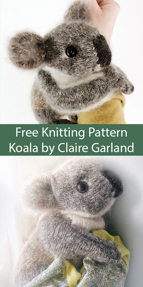 Koala Toy - Free Knitting Pattern