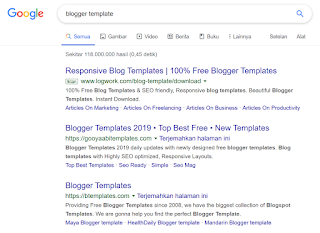 Searching Blogger Template