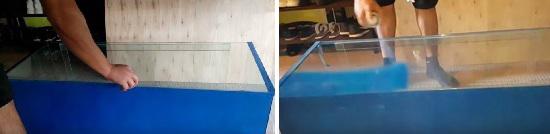 Spray paint the back of aquarium