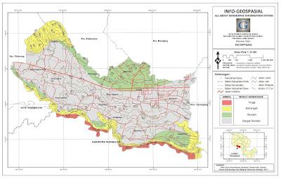 Peta Rawan Gerakan Tanah Kecamatan Ciamis