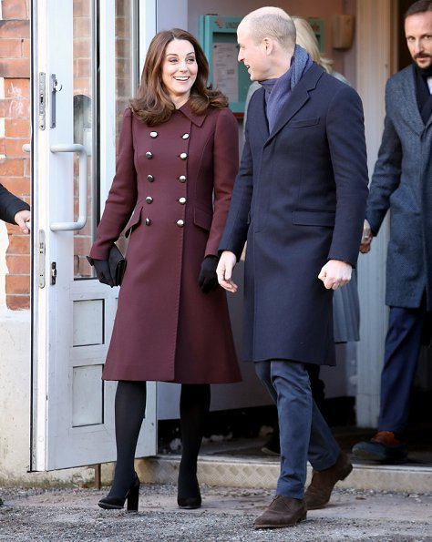 The Duchess, Kate Middleton wearing a Dolce & Gabbana coat. Crown Princess Mette Marit wore-Michael Kors Pleated wool crepe midi skirt. Skam cast Drama