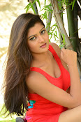 Poojitha sizzling in red dress-thumbnail-16