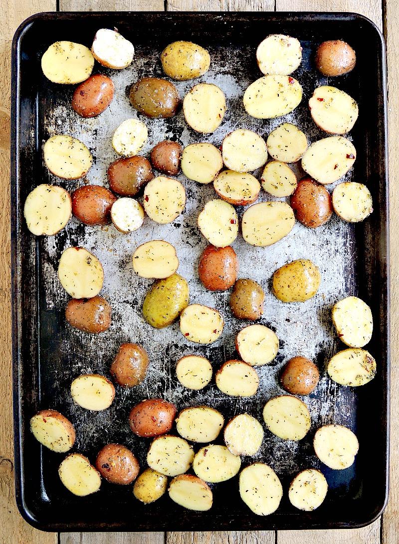 Sheet Pan Mini Meatloaves step 1