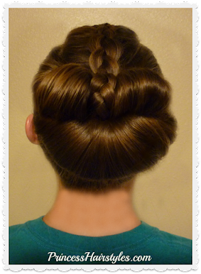 Braided bow fan bun video tutorial