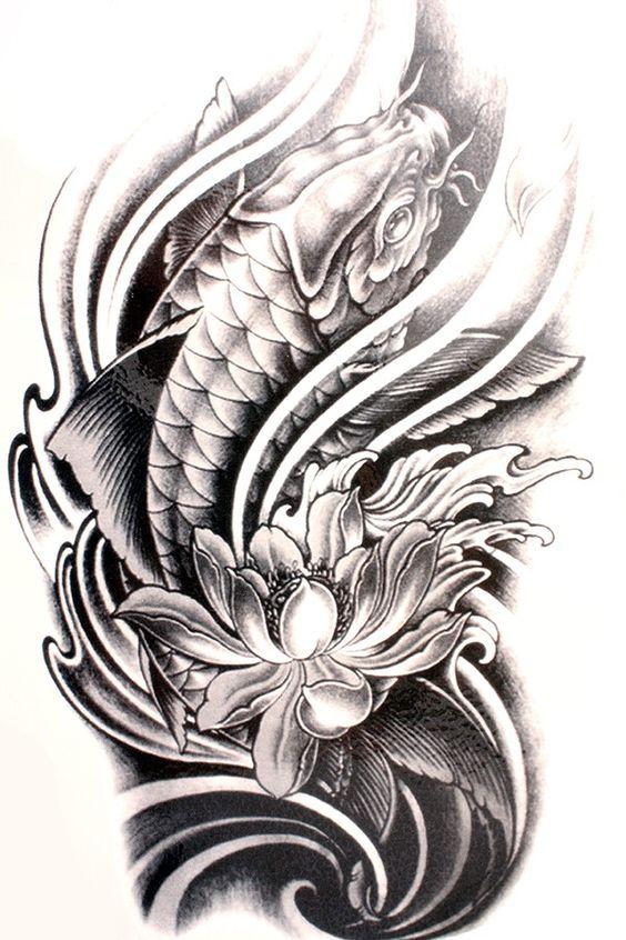 Pez Koi Leyenda. Trendy Great Tatuajes De Pez Koi Diseos Y ...