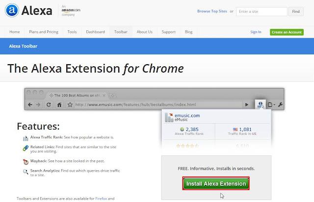 Cara Memasang Alexa Toolbar Di Firefox Dan Chrome Baru