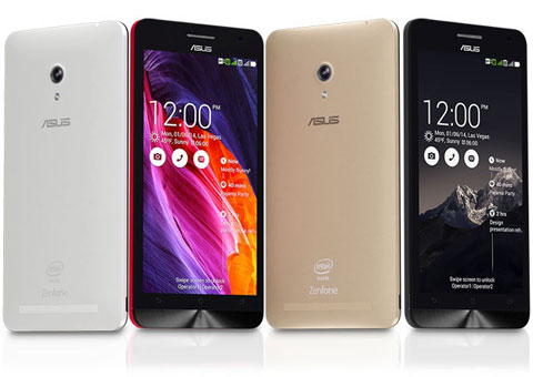 Asus Zenfone 6 A601CG Specifications - LAUNCH Announced 2014, January DISPLAY Type IPS capacitive touchscreen, 16M colors Size 6.0 inches (~70.5% screen-to-body ratio) Resolution 720 x 1280 pixels (~245 ppi pixel density) Multitouch Yes Protection Corning Gorilla Glass 3 BODY Dimensions 166.9 x 84.3 x 9.9 mm (6.57 x 3.32 x 0.39 in) Weight 196 g (6.91 oz) SIM Dual SIM (Micro-SIM, dual stand-by) PLATFORM OS Android OS, v4.3 (Jelly Bean), upgradable to v5.0.2 (Lollipop) CPU Dual-core 1.6 GHz Chipset Intel Atom Z2560 GPU PowerVR SGX544MP2 MEMORY Card slot microSD, up to 64 GB (dedicated slot) Internal Internal 16/32 GB, 2 GB RAM CAMERA Primary 13 MP, autofocus, LED flash Secondary 2 MP Features Geo-tagging, touch focus, face detection, panorama Video 1080p@30fps NETWORK Technology GSM / HSPA 2G bands GSM 850 / 900 / 1800 / 1900 - SIM 1 & SIM 2 3G bands HSDPA 850 / 900 / 1900 / 2100 Speed HSPA 42.2/5.76 Mbps GPRS Yes EDGE Yes COMMS WLAN Wi-Fi 802.11 b/g/n, Wi-Fi Direct, hotspot GPS Yes, with A-GPS USB microUSB v2.0 Radio FM radio Bluetooth v4.0, A2DP, EDR FEATURES Sensors Accelerometer, gyro, proximity, compass Messaging SMS(threaded view), MMS, Email, Push Email, IM Browser HTML Java No SOUND Alert types Vibration; MP3, WAV ringtones Loudspeaker Yes 3.5mm jack Yes BATTERY  Non-removable Li-Po 3230 mAh battery Stand-by Up to 398 h (3G) Talk time Up to 28 h (3G) Music play  MISC Colors Charcoal Black, Pearl White, Cherry Red, Champagne Gold  - 5GB free lifetime ASUS WebStorage - MP3/WAV/eAAC+ player - MP4/H.264 player - Document viewer - Photo viewer/editor - Voice memo/dial