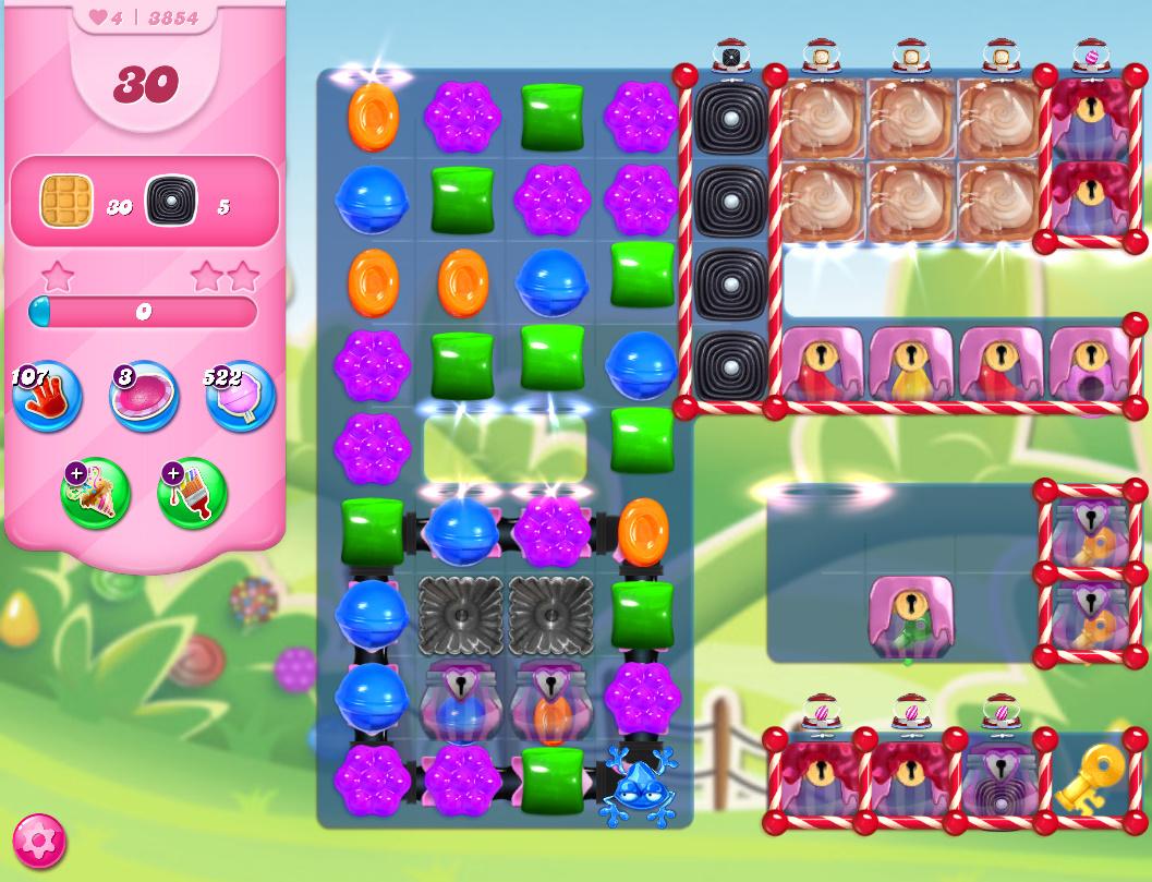 Candy Crush Saga level 3854