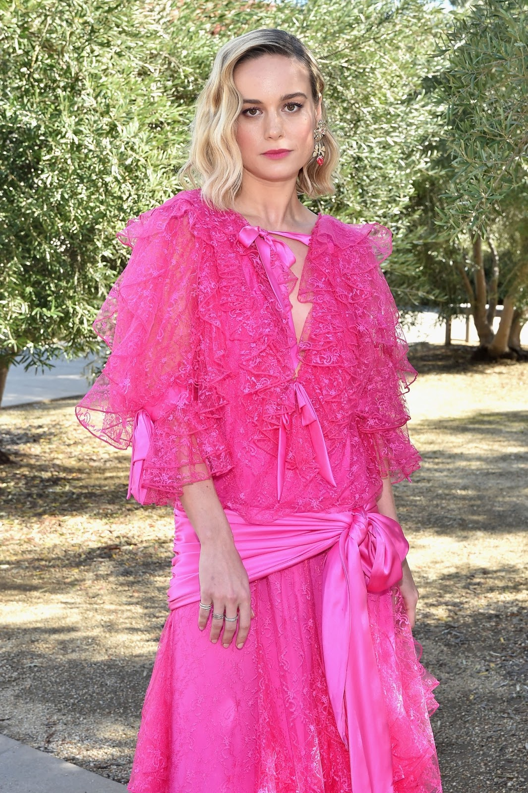 Brie Larson - Rodarte FW/19 Runway Show at the Huntington Library in San Marino - 02/05/2019