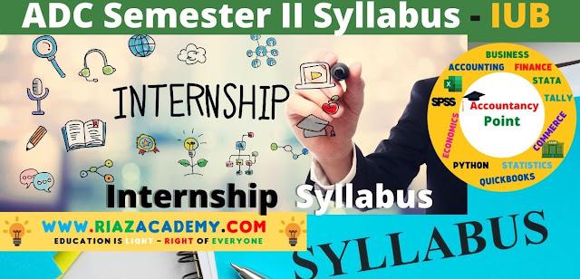 ADC-II  Internship Syllabus - ADC IUB Syllabus