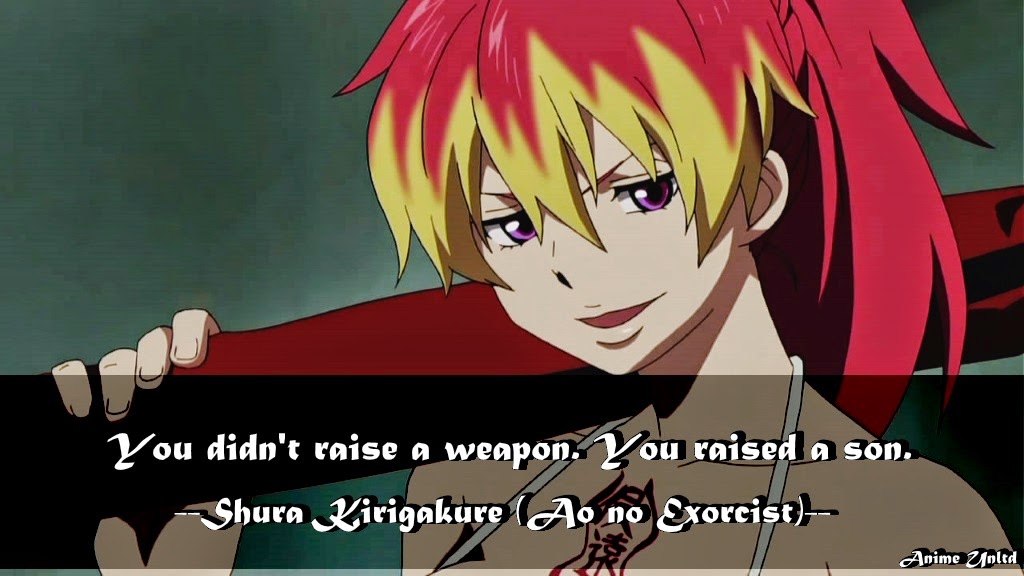 My Anime Review: Ao No Exorcist Quotes
