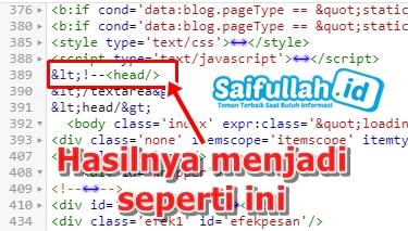 Blogger UPDATE Lagi: Muncul Tanda --> Di Atas Blog, Begini Solusinya!
