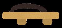 横から見た靴のイラスト(下駄)