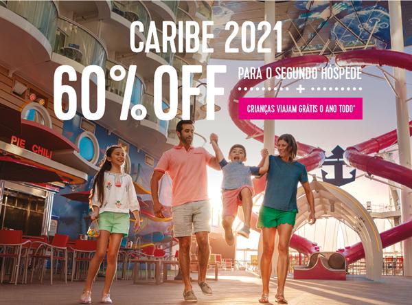 PROMOÇÃO IMPERDÍVEL CARIBE 2021 - 60%Off E CRIANÇAS FREE