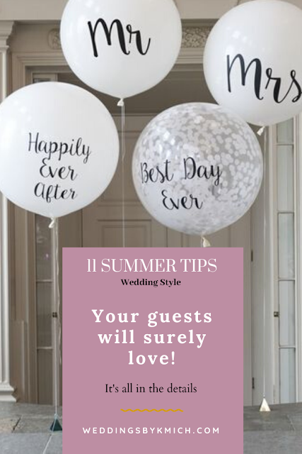 If your are planning a wedding for the summer then you should read this - wedding ideas blog - wedding planning guide - wedding tips - summer wedding tips - K'Mich Weddings + Events Philadelphia PA