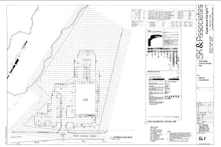 last page of the site plan revised showing the building and parking layout on the property